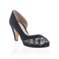 Belladonna - Decollete Peep Toe Dettaglio in Punta Made in Ital