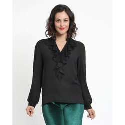 The Jetsetters - Blusa con Inserto in Pizzo