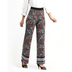 The Jetsetters - Pantaloni in Lurex Motivo Floreale