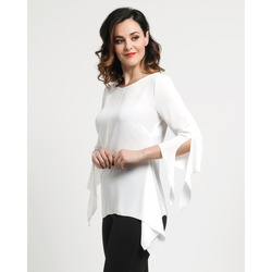 Anna Claudia - Blusa in Georgette Coprente