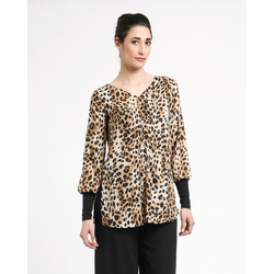 Smart & Chic - Tunica Stampa Animalier Scollo a V