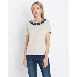 Helena Vera - T-Shirt Con Decorazione Collo