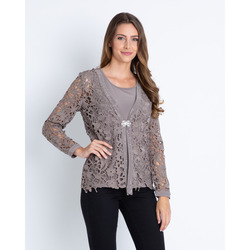 Alfredo Pauly - Set 2 in 1 Top e Cardigan in Pizzo