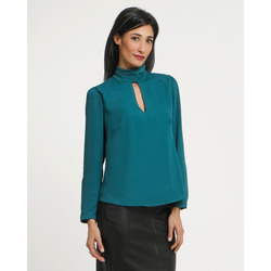 Lola - Blusa in Georgette con Collarino