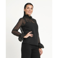 Lola-Blusa in Tulle a Pois e Punti Luce