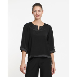 The Jetsetters - Blusa Inserto Satin Manica 3/4