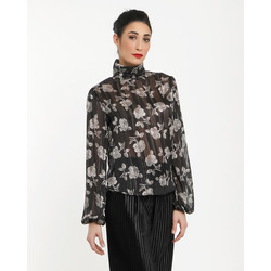 The Jetsetters - Blusa con Fantasia Floreale Inserti in Lurex