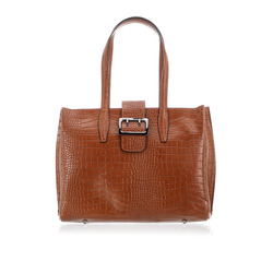 Smart & Chic Accessori - Borsa Shopper Stampa Cocco Fibbia