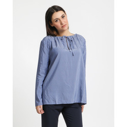 - Stefanel Blusa Manica Lunga con Coulisse