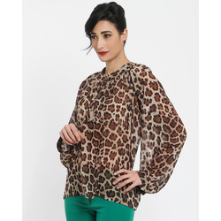 Thes & Thes - Blusa in Chiffon Stampa Animalier