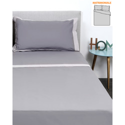 Linea Luxury Completo Letto Percalle Bordi Raso Matrimoniale - 189,00 €
