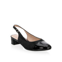 Caprice - Decollete Sling Back Bi-Materiale