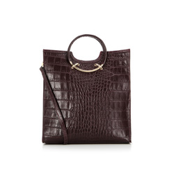 Thes & Thes - Thes&Thes Shopper pelle stampa cocco e manici metallici