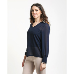 James Lakeland - Blusa in Georgette con Perle