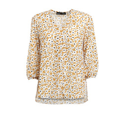 Smart & Chic - Blusa in Doppia Georgette Stampa Margherite