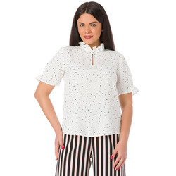 The Jetsetters - Blusa a Pois Manica Corta e Colletto Ruches