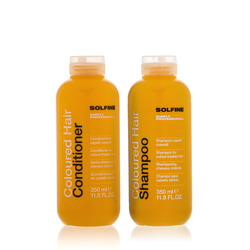 Solfine - Duo Coloured Hair Shampoo 350ml + Hair Conditioner 350ml