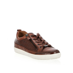 Caprice-Caprice Sneakers Pelle Stampa Cocco E Zip Laterale