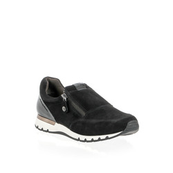 Caprice - Caprice Slip On In Pelle Con Zip Laterale E Placchetta Metallica