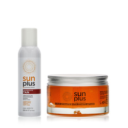 Sun Plus - Spray Abbronzatura Progressiva 200 ml + Scrub Levigante Esfoliante 200ml