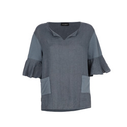 James Lakeland - Top in Lino con Maniche 3/4 e Taschine
