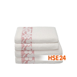 SET ASCIUGAMANI 4PZ IN COTONE CON BORDO - 29,99 €