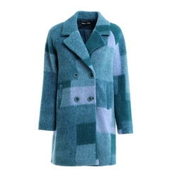 Smart & Chic - Smart & Chic Cappotto In Lana Stampa Patchwork