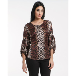 James Lakeland - James Lakeland Blusa Animalier In Satin