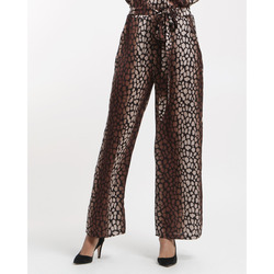 James Lakeland - James Lakeland Pantaloni Palazzo Animalier In Satin