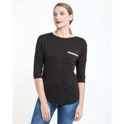 The Jetsetters - The Jetsetters Maglia In Bamboo Con Taschina Ed Applicazione
