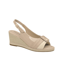 Piccadilly-Piccadilly Sandalo Sling Back In Vernice Con Accessorio E Zeppina