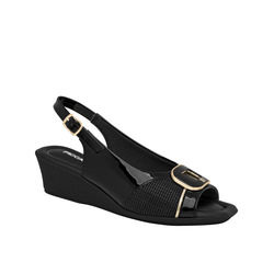 Piccadilly-Piccadilly Sandalo Sling Back In Vernice Con Zeppina
