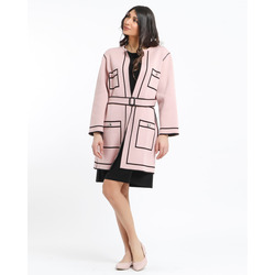 The Jetsetters-The JetSetters Cardigan Double Face Effetto Trompe L'oeil Con Cintura