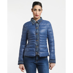 Nuve - Nuve Piumino Leggero Bordato In Denim